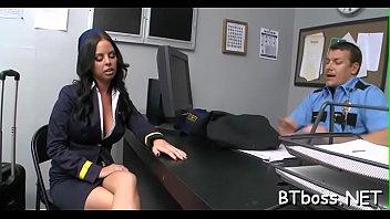 hot boss lady gives juicy blowjob and takes.