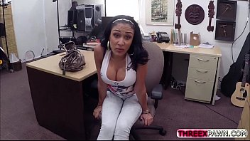 big titty latina gets nailed in the shop.