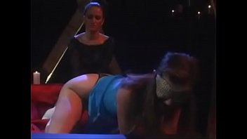 krystal and gala, light whipping and wax, then oral