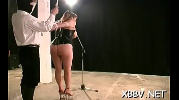 enormous tit torture for non-professional woman