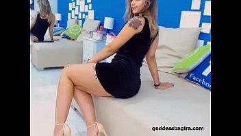 young goddess short dress sexy legs heels footfetish.