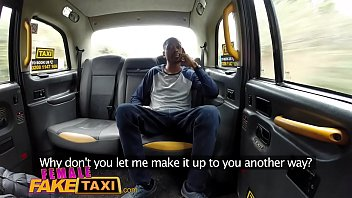 female fake taxi back seat blowjob from busty.