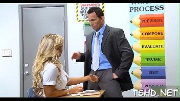 husky teacher teaches a schoolgirl some dissolute sex tricks