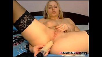 beautiful stockings blonde toying ass live.