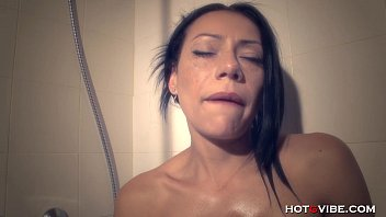 milf massages with oil in the.