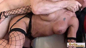 long-haired milf fucks her stepson while.