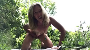 public solo in the forest orgasm