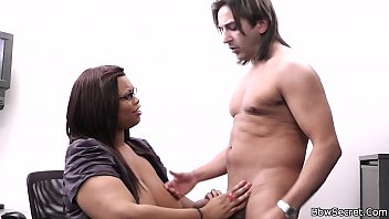 ebony plumper rides married guy cock