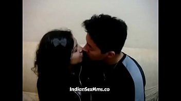 young desi looking college girl smooch with her.