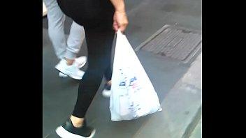 big sexy latina booty walking in.