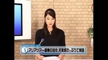 japanese sports news flash anchor fucked from behind.