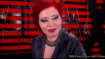 seductive red head dom milf on cam in.