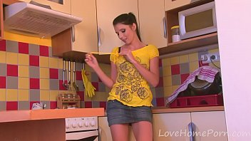 cute teen strips off her clothes.