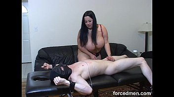 mistress smothers slave with her big tits and.