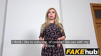 fake agent hot blonde big tits russian gets.