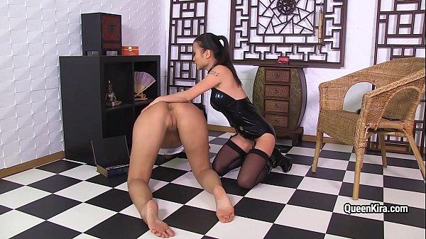 asian mistress fucks busty pornstar kira.