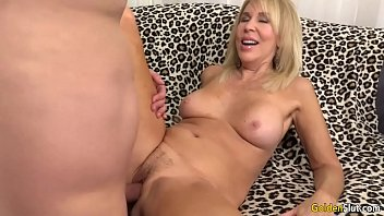 mature blonde erica lauren shows off her pussy.