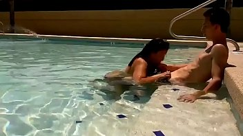 hotel pool blowjob caught!