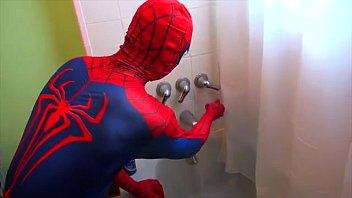 spiderman takes a bath! spiderman bath time! superhero.