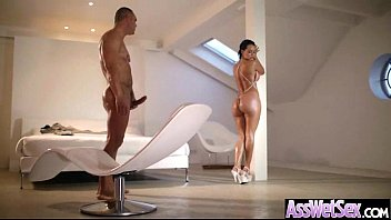hard anal intercorse with big round ass girl.