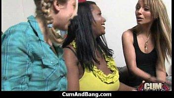 extreme interracial gangbang - sexy ebony hottie group.