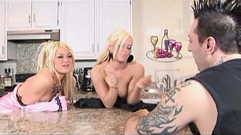 hot blondes having a threesome in.