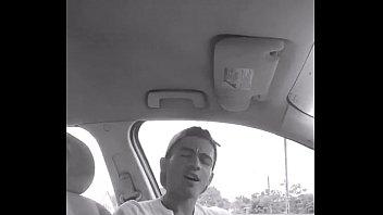 boy jerk off in car