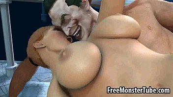 busty 3d babe getting fucked hard by the joker