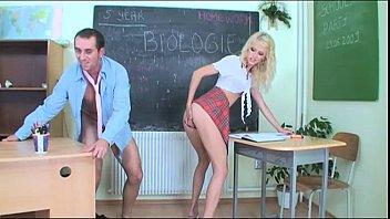 slutty schoolgirl seduces her teacher in.