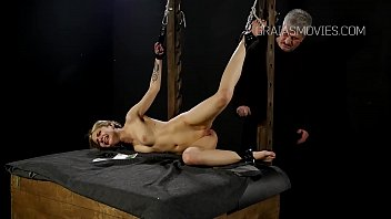 cute girl restrained and punished