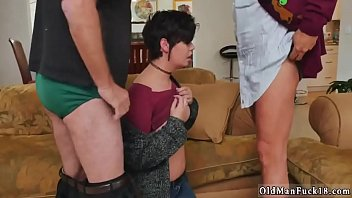 tricky old teacher and not daddy first time.