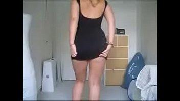 fat ass blonde shows ass and.