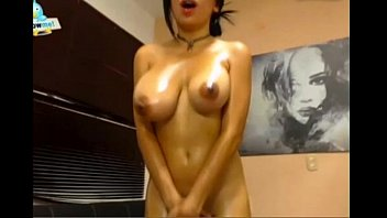 perfect boobs bouncing while she cums.