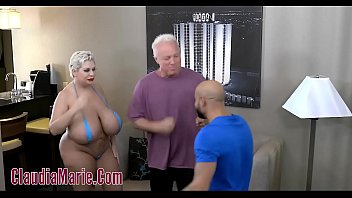huge tit claudia marie tore up by two.