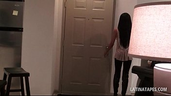 latina brunette gets small tits played with in pov