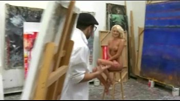 nude painting with 18yo blonde leads to hot.