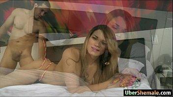 latina ts paulinha lima gives head and anal.
