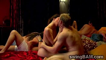 naughty couples get involved in a wild swingers.