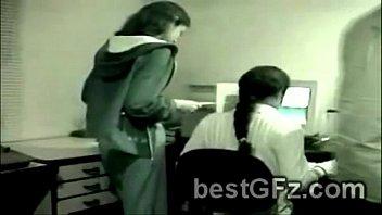 amateur lesbian got caught pleasing each other in.