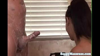 busty asian masseuse tribbing on a.