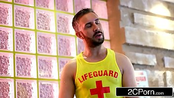 hot russian blonde kayla green lets lifeguard fuck.