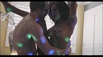 ebony stripper anya ivy works her pole skills.