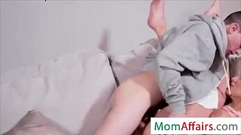 MomAffairs.com - Stepmom MILF Want to Fuck by Young Stepson in a bedroom