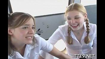 breathtaking schoolgirl gets wet pussy licked.