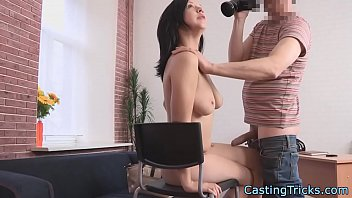 bigtits casting amateur gets doggystyled