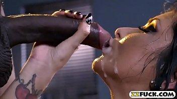 big boobs pornstar cum showered on.