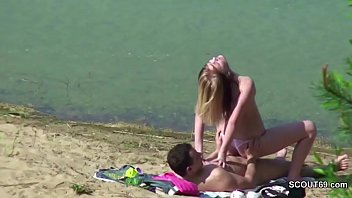 voyeur young german couple fuck at beach of hamburg
