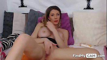 home alone blonde fingering her horny wet pussy.