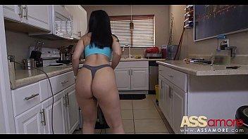big booty wife doing housework