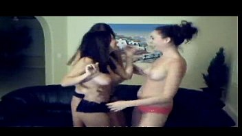 3 hot brunettes are dancing on web cam.
